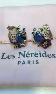 Les Nereides Owl Earrings