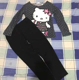 Hello Kitty Top and Gap Leggings