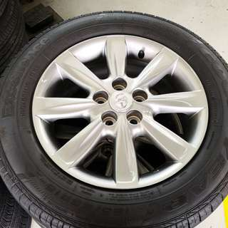 "Toyota Wish 15"" Stock Rim and Tyres (TRADE BACK FROM NEW CAR - 99% NEW)"