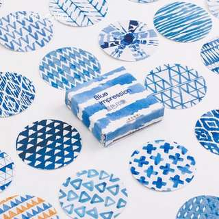 [Stickers] blue print stickers for diary and scrapbooking