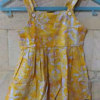 Dress Baby Batik Yellow