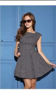 BN Polka Dots Flare Dress