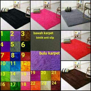 Surpet bulu rasfur + 4 bantal