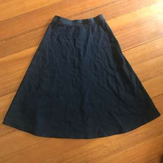 Decjuba A-Line Midi Skirt