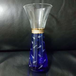 Brand New Shiseido Hanatsubaki Club 1994 Designer Crystal Glass Flower Vase