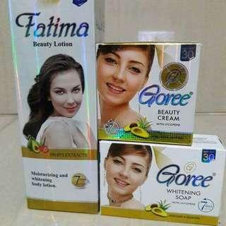Goree soap,  Cream and Fatima Lotion Set