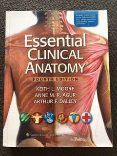 ESSENTIAL CLINICAL ANATOMY FOURTH EDITION