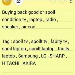 I buy spoilt tv at a high price