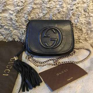 Gucci Soho Leather Chain Crossbody Bag