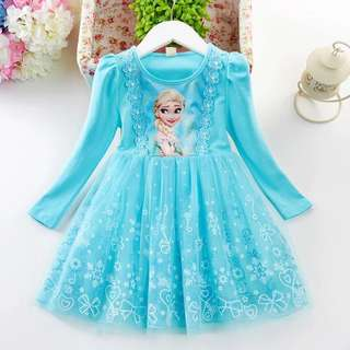 Princess Elsa dress 👗 birthday 🎁 party 🎉 🎈 dress # 2 colors ❤️