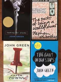 John Green/Stephen Chbosky books