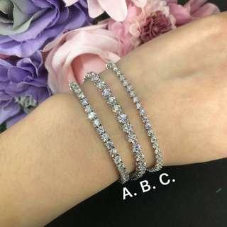 18K 白金鑽石手鏈