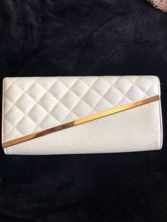 White and Gold Clutch