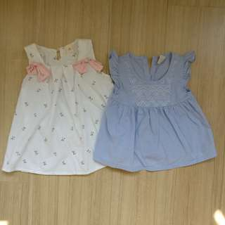 2 pieces baby dress and shirt