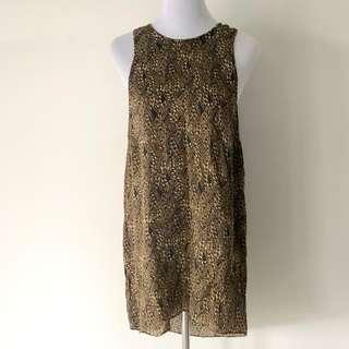 Zimmermann Gold Chain Silk Dress Size 1