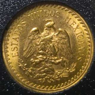 1945 Mexico Gold 2.5 Pesos