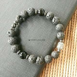 Buddha Lava Stone Bracelet