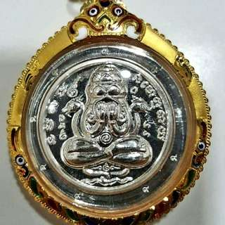 PHRA (Pidta pangpakan)Silver. 9 code, rare.(Master) Mass Chanted Chao Khun. Thong Chai & ETC .Temple (wat koh Hong) Hatyai songkia