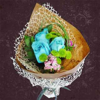 [FREE DELIVERY] Blue Roses Hand-bouquet (955-BU)