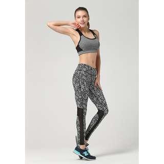 Speckled Mesh Yoga Gym Legging