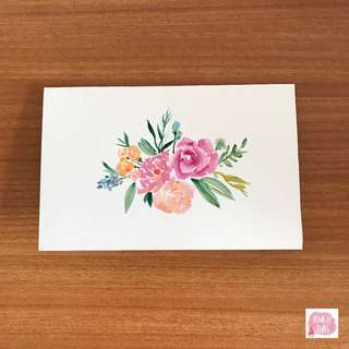 Handmade watercolour card, customisable (Free delivery and card sending service)
