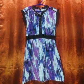 Printed Violet Dress
