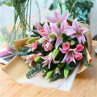 Flower Bouquet∕Hand Bouquet∕Birthday Bouquet∕Anniversary Bouquet∕Proposal Bouquet - 53B0