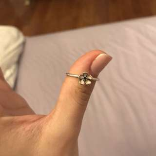 Pandora ring cherry blossom size 7