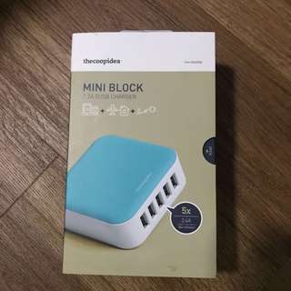 TheCoopIdea Mini Block 7.3A 5 USB port charger