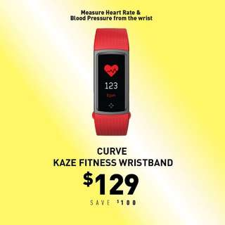 Curve Kaze Bluetooth Fitness Wristband