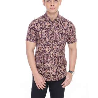 SHORT SLEEVE SHIRT SSB19-111 (PURPLE)