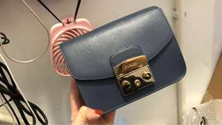 furla metropolis mini crossbody 藍色