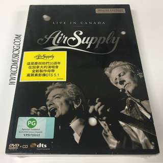 [DVD + CD] Air Supply - Live In Canada