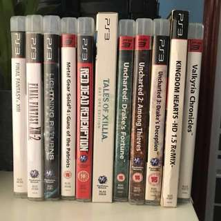 Used PS3 Games to let go (read description for details)