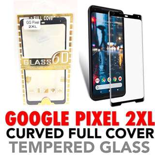 Google Pixel 2 XL Full Coverage Curved Glass Protector 2XL