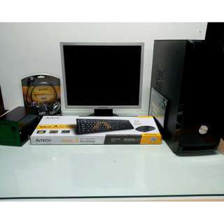 Computer Set Package AMD Athlon II X4 630 with Monitor and GPU