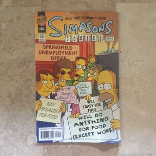 The Simpsons Comics Gala Soft Economy Issue