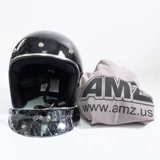 AMZ Vintage Open Face 3/4 Motorcycle Helmet-819