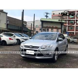 【FB搜尋桃園阿承】福特 超人氣FOCUS 2013年 1.6 銀色 二手車 中古車