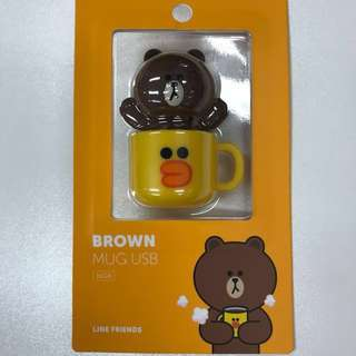 Line Friends Brown Mug USB