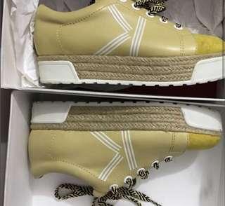 Kenzo. Platform Shoes... 可交換。Not Vivian Westwood Togo MCQ  厚底真皮黃色鞋。