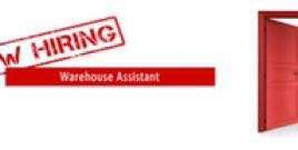 Hiring Full Time Warehouse Assistant