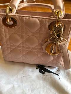 Lady Dior baby pink bag