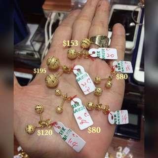 Genuine 18K Gold Earrings