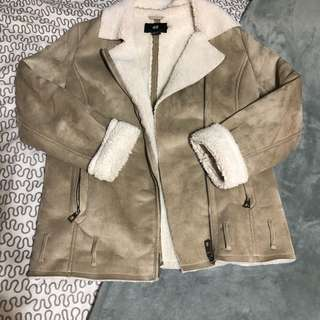 H&M Faux Shearling Aviator Jacket