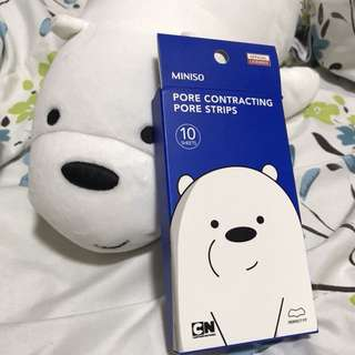 Miniso x We Bare Bears Pore Strips
