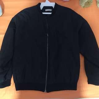 Black Bomber Jacket (Oversized)