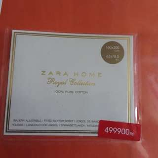 Sprei Zara Home Ori 160cm x 200cm Royal Collection (Nego)