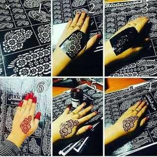[PO] Henna Template (12pcs)