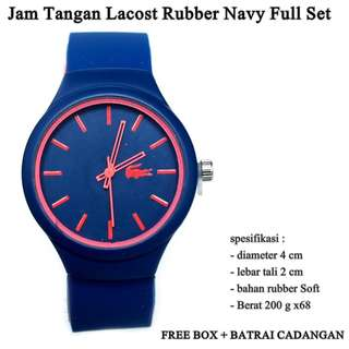 jam tangan Lacost rubber navy